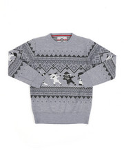 Sweatshirts & Sweaters - Fair Isle Dabbing Christmas Sweater (8-18)-2455363