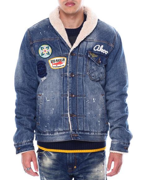 AKOO - bisonshawl collar denim jacket