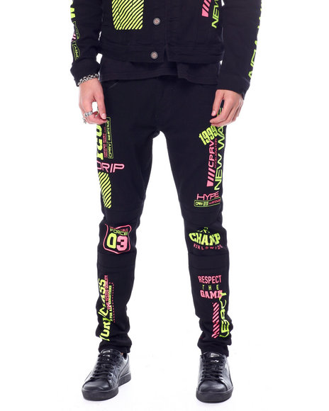 Copper Rivet - Fluorescent Worldclass Moto Jean