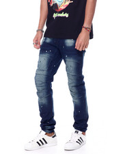 Jeans - Splatter Seamed Knee Moto Jean-2454745