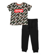 Sizes 4-7x - Kids - 2 Pc Tee & Jogger Pants Set (4-7)-2456598