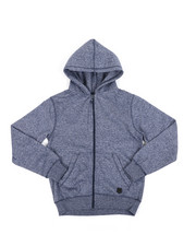 Hoodies - Melange Fleece Zip-Up Hoodie (8-20)-2456675