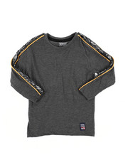 Sizes 4-7x - Kids - Long Sleeve Poly Taped Crew Neck Shirt (4-7)-2456018