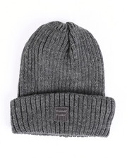 Mens-Winter - Wool Rib Cuffed Shorteman Beanie-2457941