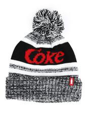 Buyers Picks - Coke Marled Striped Pom Beanie-2457946