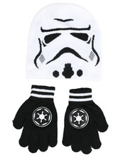 Girls - Star Wars Storm Trooper Knit Hat & Gloves Set-2457935