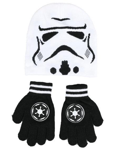 Arcade Styles - Star Wars Storm Trooper Knit Hat & Gloves Set