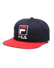 Fila - 6 Panel Flat Brim Snapback Hat-2457963