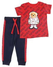Sets - Crew Neck T-Shirt W/Fashion Jogger 2 PC Set (4-7)-2455111
