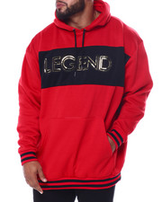 Hoodies - Legend Fleece Pullover W/Embossed Foil Neoprene + Striped Rib (B&T)-2458431