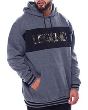 Hoodies - Legend Fleece Pullover W/Embossed Foil Neoprene + Striped Rib (B&T)-2458435