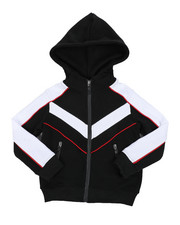 Outerwear - Color Blocked Moto Fleece Jacket (4-7)-2457696