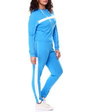 Sets - Stripe Jersey Hoodie & Legging Set (Plus)-2458832