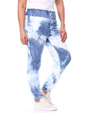 Bottoms - Tie Dye Butter Knit Jogger Smocked Waistband & Cuffs(Plus)-2449801