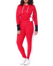Sets - Colorblock Jersey Hoodie & Legging Set (Plus)-2458845