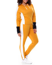 Sets - Colorblock Jersey Hoodie & Legging Set (Plus)-2458855