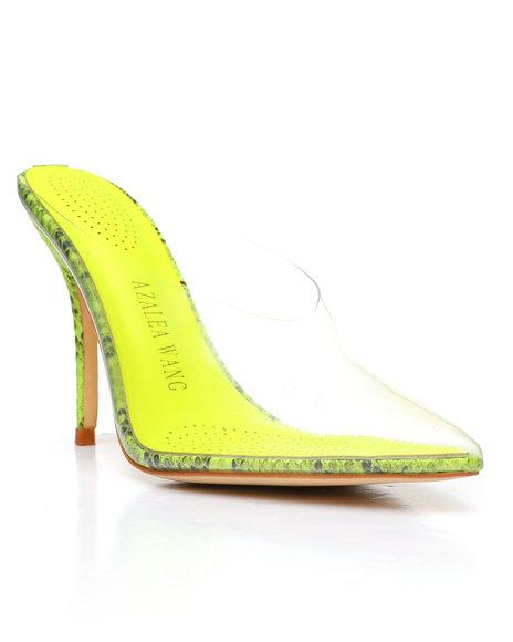 Azalea Wang - Neon Snake PVC Heels