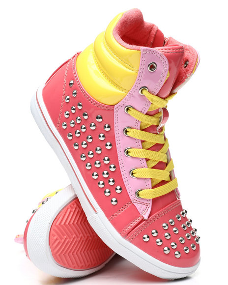 La Galleria - Studded Color Block Sneakers (11-4)