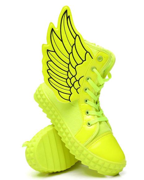 La Galleria - Neon Angel Winged Sneakers (11-4)