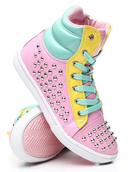 La Galleria - Studded Color Block Sneakers (11-4)