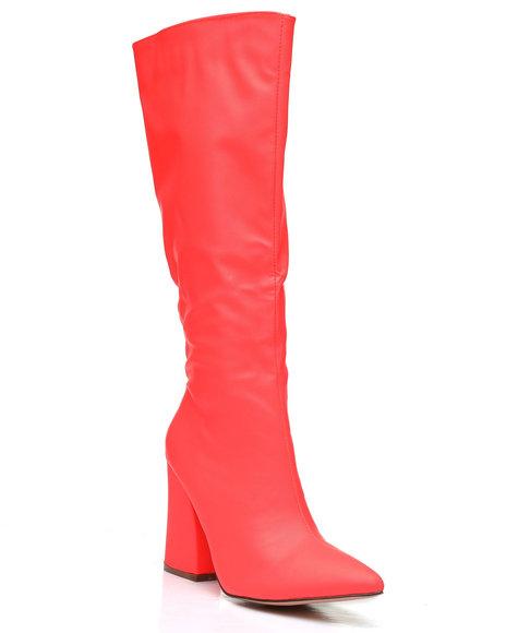 Fashion Lab - Slip-On Knee Length Boots