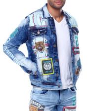 Outerwear - Vintage Icon Print Denim Jacket-2459337