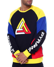 Black Pyramid - Curve block Crewneck Sweatshirt-2459582