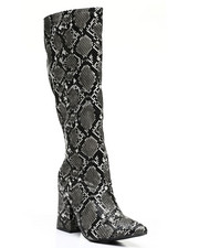 Fashion Lab - Slip-On Knee Length Boots-2459392