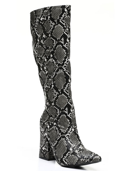 Fashion Lab - Slip-On Knee Length Boots