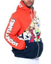 Outerwear - Hooded Colorblock Looney Tunes Jacket-2459287