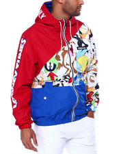 Outerwear - Hooded Colorblock Looney Tunes Jacket-2459281