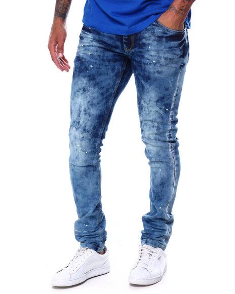 Copper Rivet - White Paint detail Jeans