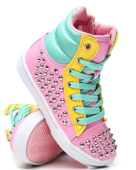La Galleria - Studded Color Block Sneakers (5-10)