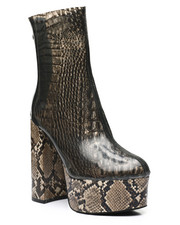 Women - Snake PVC Ankle Booties-2458694