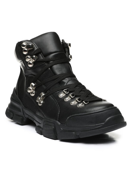 Fashion Lab - Lace-Up Hiker Boots