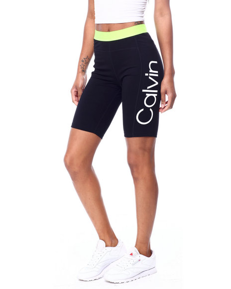 Calvin Klein - Logo Jacquard Elastic Waistband High Waist Bike Short