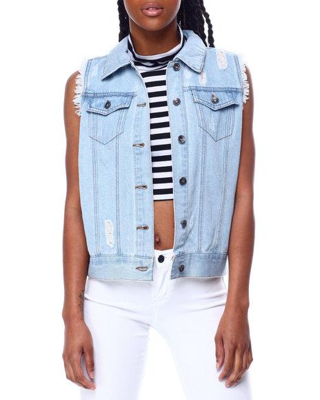 Fashion Lab - Distressed Denim Vest
