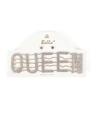 Accessories - Queen Word Choker & Earrings Set-2459753