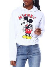 Hoodies - Mickey Elastic Hem Skimmer Hoodie-2459817