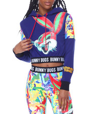 Freeze Max - Bugs Abstract Crop Hoodie-2459092
