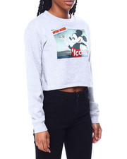 Graphix Gallery - Mickey Mouse Dreamer Satin Patch Skimmer Sweatshirt-2459836