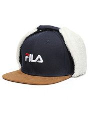 Fila - Wool Blend Suede Brim Hat W/Ear Flaps-2459148