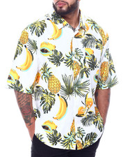 Buyers Picks - Tropical Fruit Print Poly Woven Shirt (B&T))-2460396