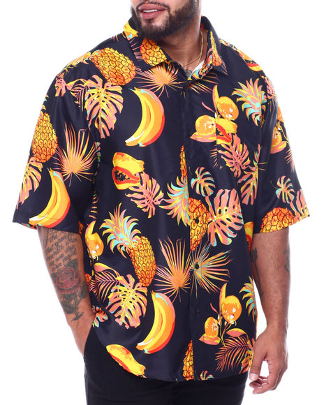 Buyers Picks - Tropical Fruit Print Poly Woven Shirt (B&T)