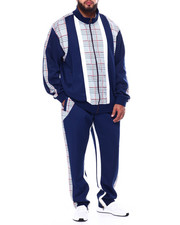 Sets - Makobi Plaid Zip Down Track Set (B&T)-2460411