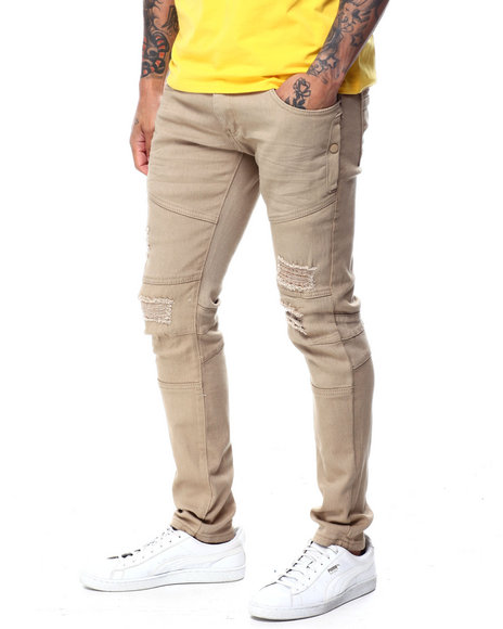 Copper Rivet - Distressed Side Pocket Twill Pant