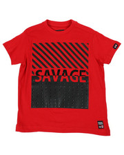 Sizes 4-7x - Kids - Crew Tee W/ Stud Faux Leather Patch (4-7)-2459866