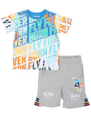 Sizes 2T-4T - Toddler - Tee & Loopback Shorts (2T-4T)-2459827
