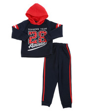 Sizes 4-7x - Kids - Fleece Hoodie & Jogger Pants Set (4-7)-2459783