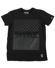 Sizes 4-7x - Kids - Crew Tee W/ Stud Faux Leather Patch (4-7)-2459861